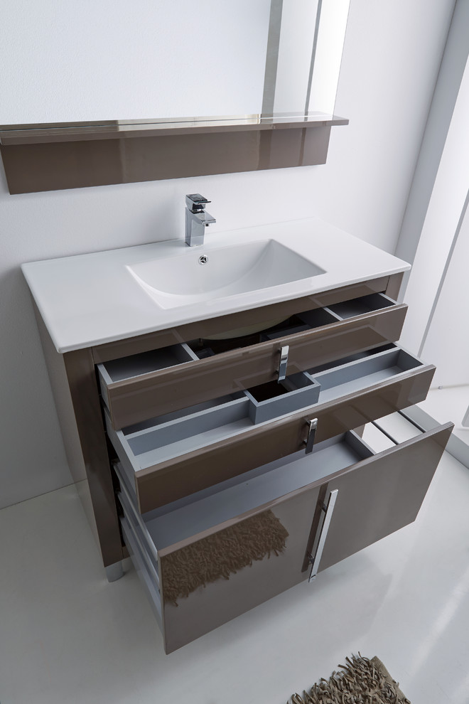 Bathroom , Charming  Contemporary Sink Consoles For Small Bathrooms Photo Inspirations : Breathtaking  Contemporary Sink Consoles for Small Bathrooms Picture Ideas