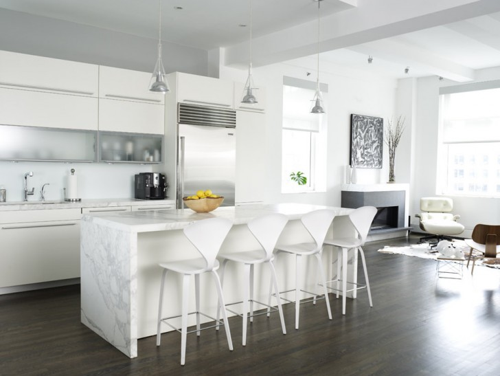 Kitchen , Wonderful  Contemporary White Kitchen Cabinet Design Ideas Photos : Breathtaking  Contemporary White Kitchen Cabinet Design Ideas Picture Ideas