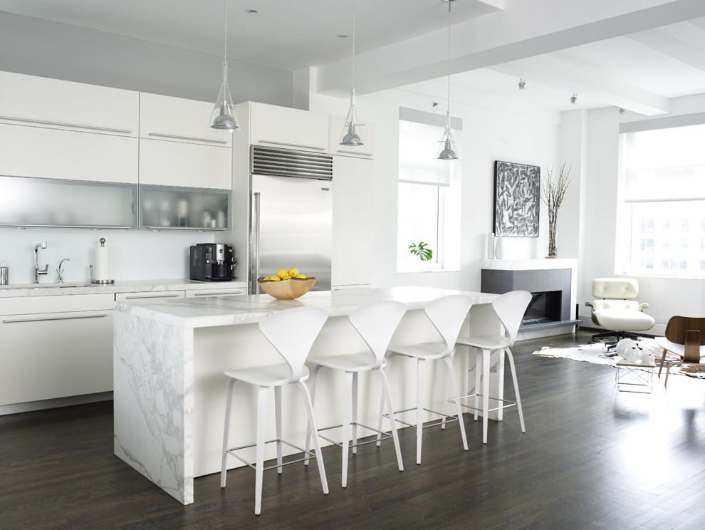 990x744px Wonderful  Contemporary White Kitchen Cabinet Design Ideas Photos Picture in Kitchen