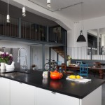 Kitchen , Lovely  Contemporary Large Kitchen Island Table Picture : Breathtaking  Eclectic Large Kitchen Island Table Inspiration
