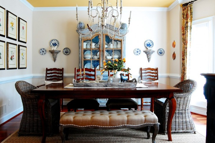 Dining Room , Charming  Farmhouse Kitchen Table Sets With Benches Ideas : Breathtaking  Farmhouse Kitchen Table Sets with Benches Inspiration