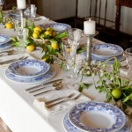 Breathtaking  Mediterranean Dinner Set Table Photos , Fabulous  Eclectic Dinner Set Table Picture In Dining Room Category