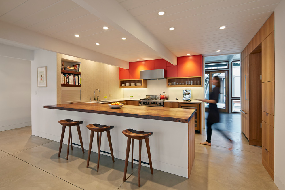 990x660px Gorgeous  Midcentury Concrete Countertops Portland Oregon Photo Ideas Picture in Kitchen