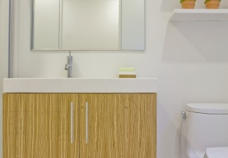 736x990px Lovely  Modern Making A Small Bathroom Look Bigger Picture Ideas Picture in Bathroom