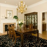 Dining Room , Beautiful  Beach Style Dining Table and China Cabinet Image Ideas : Breathtaking  Traditional Dining Table and China Cabinet Image