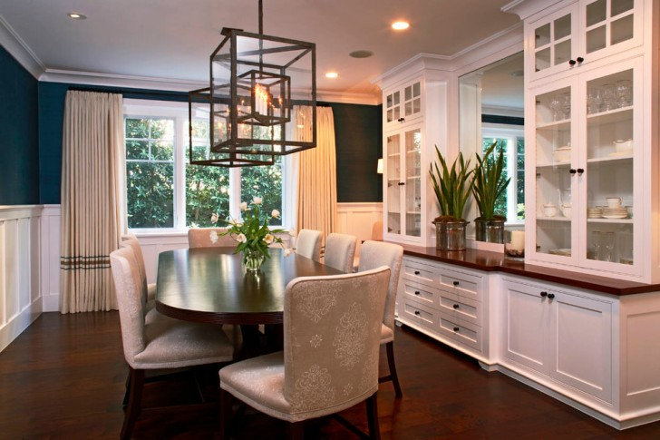Dining Room , Lovely  Traditional Dinning Room Cabinets Inspiration : Breathtaking  Traditional Dinning Room Cabinets Image Ideas