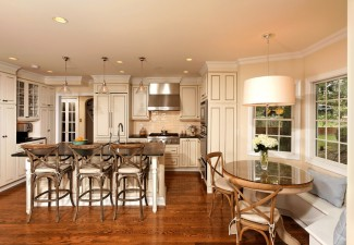 990x660px Beautiful  Traditional Table And Bar Stools Photo Inspirations Picture in Kitchen