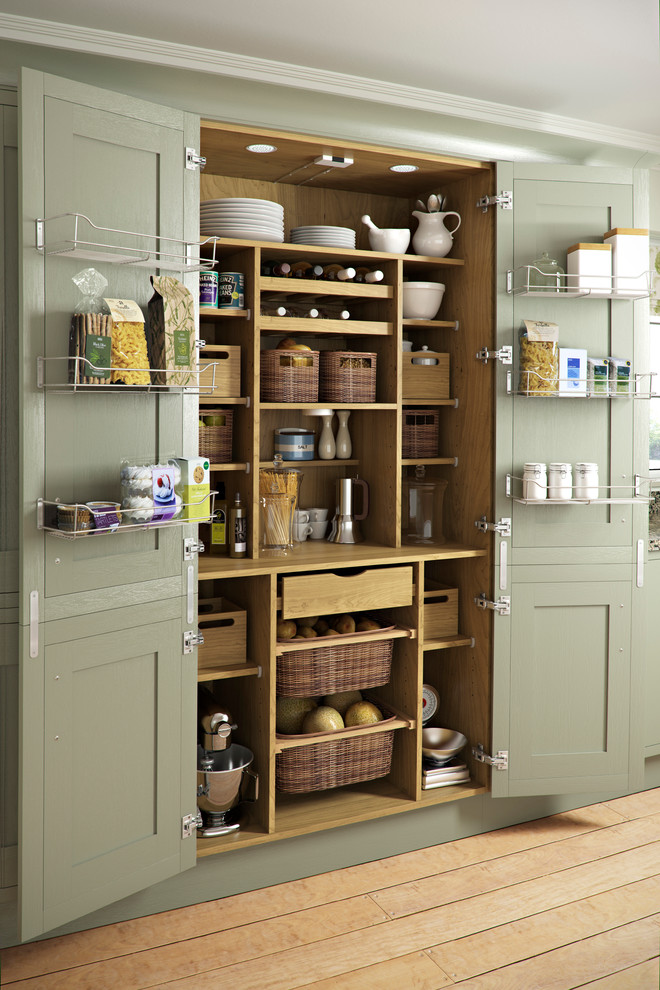 Kitchen , Stunning  Traditional Wooden Kitchen Pantry Inspiration : Breathtaking  Traditional Wooden Kitchen Pantry Image