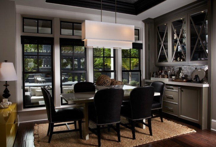 Dining Room , Fabulous  Contemporary Bar In Dining Room Inspiration : Charming  Contemporary Bar in Dining Room Photo Ideas
