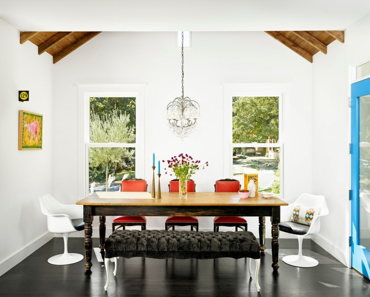 Dining Room , Stunning  Contemporary Dining Room Tables With Benches And Chairs Ideas : Charming  Contemporary Dining Room Tables with Benches and Chairs Photo Ideas