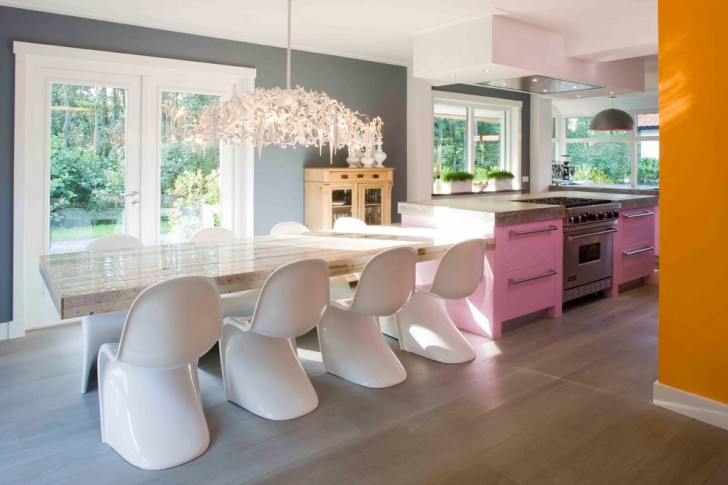Kitchen , Stunning  Contemporary Kitchen Bar Table And Chairs Photo Ideas : Charming  Contemporary Kitchen Bar Table and Chairs Photo Inspirations