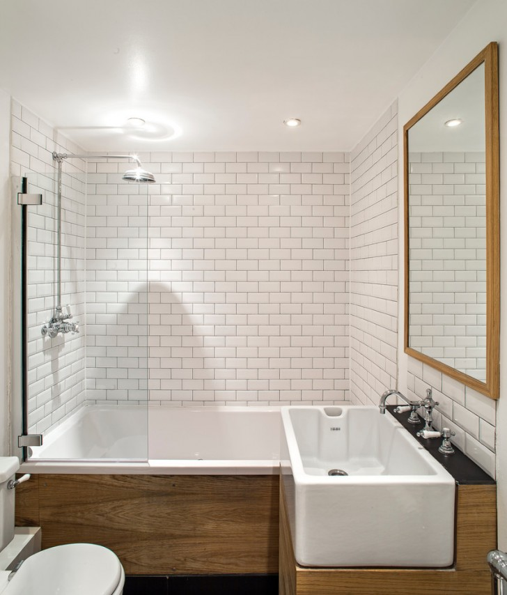 Bathroom , Lovely Contemporary Small Bathroom Renovations Before And After  Photo Ideas : Charming Contemporary Small