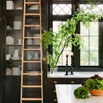 Charming  Craftsman Black Cabinets Kitchen Image Ideas , Stunning  Traditional Black Cabinets Kitchen Image Inspiration In Kitchen Category