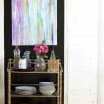 Charming  Eclectic Faux Bamboo Bar Cart Ideas , Lovely  Eclectic Faux Bamboo Bar Cart Image Ideas In Dining Room Category