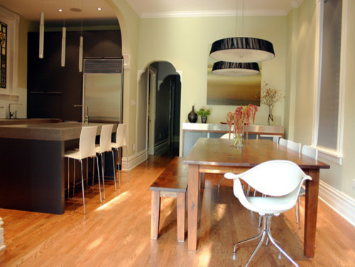 Kitchen , Breathtaking  Modern Dining Room Kitchen Tables Image Ideas : Charming  Modern Dining Room Kitchen Tables Photos