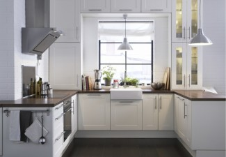 990x822px Beautiful  Modern Ikea Kitchen White Cabinets Photo Ideas Picture in Kitchen
