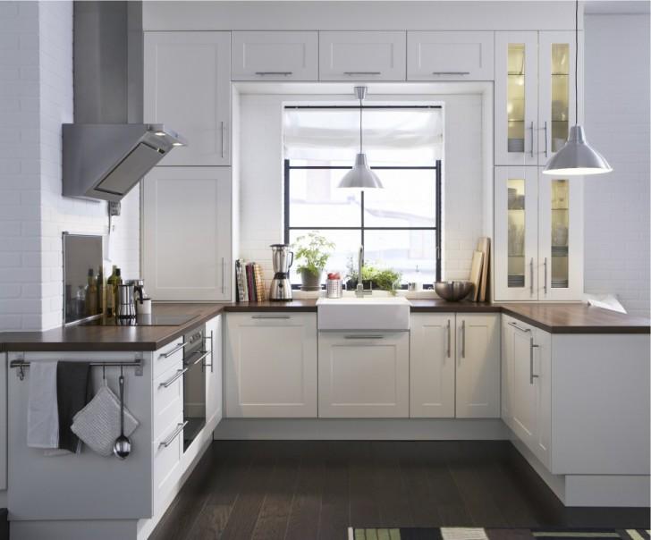 Kitchen , Beautiful  Modern Ikea Kitchen White Cabinets Photo Ideas : Charming  Modern Ikea Kitchen White Cabinets Photo Ideas