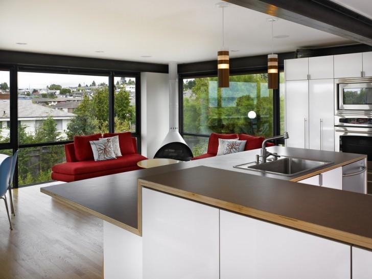 Kitchen , Awesome  Modern Shiny Laminate Countertops Inspiration : Charming  Modern Shiny Laminate Countertops Image Ideas