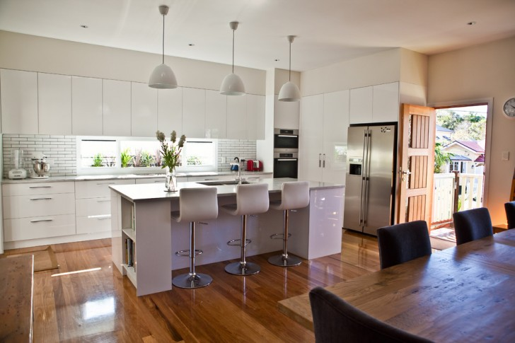 Kitchen , Lovely  Modern White Cabinets In Kitchen Ideas : Charming  Modern White Cabinets in Kitchen Photo Inspirations
