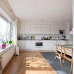 Dining Room , Charming  Modern Storage Kitchen Table Image Ideas : Charming  Scandinavian Storage Kitchen Table Image Ideas