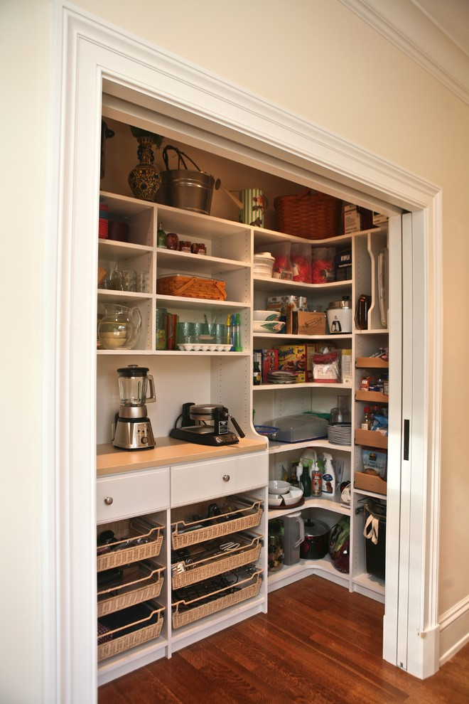 Kitchen , Lovely  Traditional Wood Kitchen Pantry Image : Charming  Traditional Wood Kitchen Pantry Photo Ideas