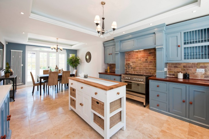 Dining Room , Lovely  Traditional Butcher Block Stand Photo Ideas : Charming  Victorian Butcher Block Stand Picture Ideas