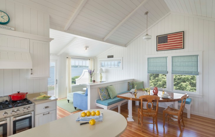 Dining Room , Fabulous  Beach Style Kitchen Tables Small Spaces Inspiration : Cool  Beach Style Kitchen Tables Small Spaces Ideas
