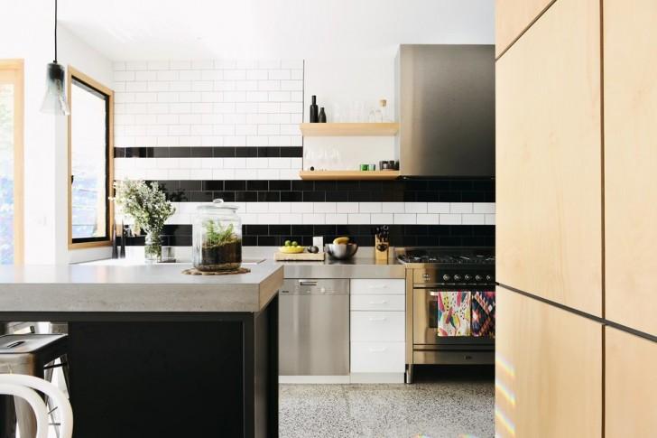 Kitchen , Cool  Contemporary Black Kitchen Cabinet Doors Picture : Cool  Contemporary Black Kitchen Cabinet Doors Ideas