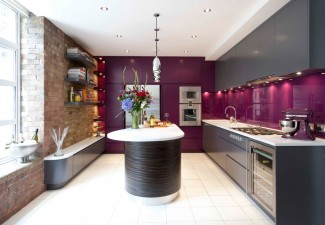 990x660px Fabulous  Contemporary Wall Of Kitchen Cabinets Ideas Picture in Kitchen