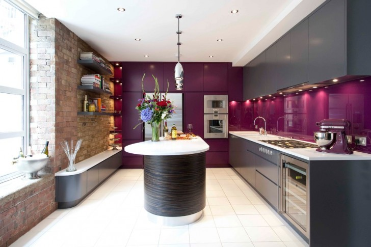 Kitchen , Fabulous  Contemporary Wall Of Kitchen Cabinets Ideas : Cool  Contemporary Wall of Kitchen Cabinets Image
