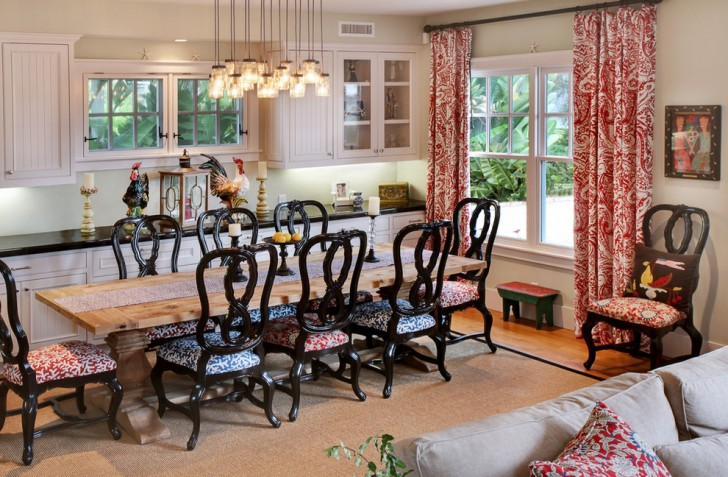 Dining Room , Beautiful  Farmhouse Kitchen And Dining Room Chairs Photo Inspirations : Cool  Farmhouse Kitchen and Dining Room Chairs Ideas