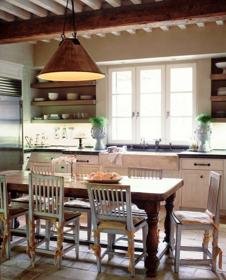 Kitchen , Cool  Farmhouse Tables Kitchen Ideas : Cool  Farmhouse Tables Kitchen Photo Ideas