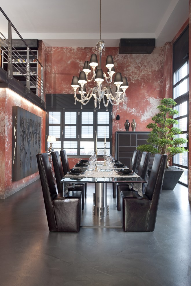Dining Room , Cool  Industrial Glass Dining Room Tables And Chairs Image : Cool  Industrial Glass Dining Room Tables and Chairs Photo Inspirations