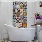 Cool  Mediterranean Bathroom Tiling Ideas for Small Bathrooms Photo Ideas , Stunning  Beach Style Bathroom Tiling Ideas For Small Bathrooms Image In Bathroom Category
