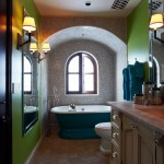 Cool  Mediterranean Soaking Tub in Small Bathroom Photo Inspirations , Gorgeous  Modern Soaking Tub In Small Bathroom Picture Ideas In Bathroom Category