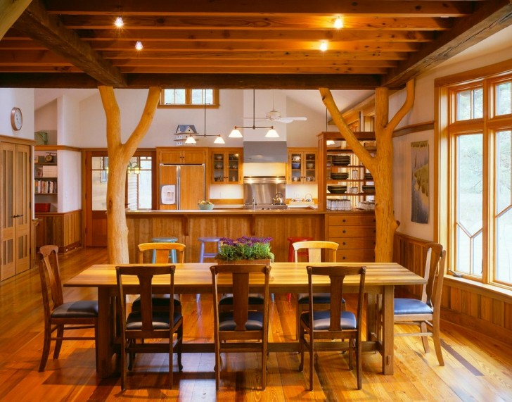 Dining Room , Stunning  Rustic Dining Room Tables Set Picture : Cool  Rustic Dining Room Tables Set Image Inspiration
