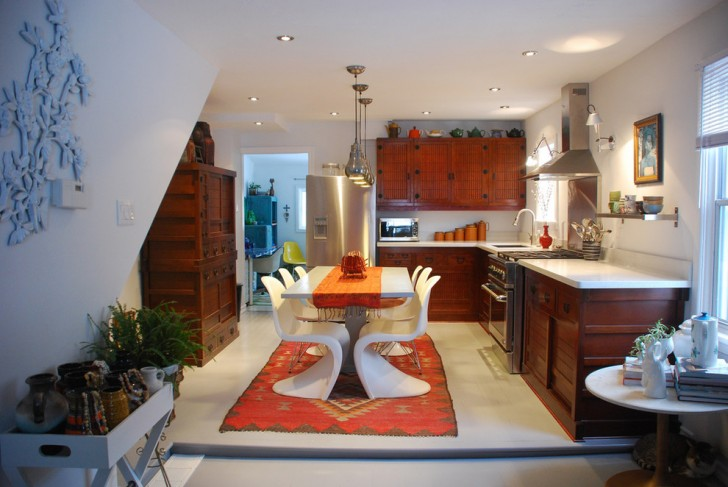 Kitchen , Awesome  Contemporary 2 Chair Kitchen Table Image Inspiration : Cool  Southwestern 2 Chair Kitchen Table Picture