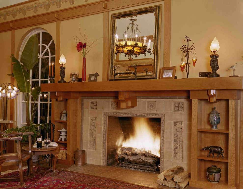 990x772px Nice  Traditional Fireplace Surround Design Inspiration Picture in Living Room