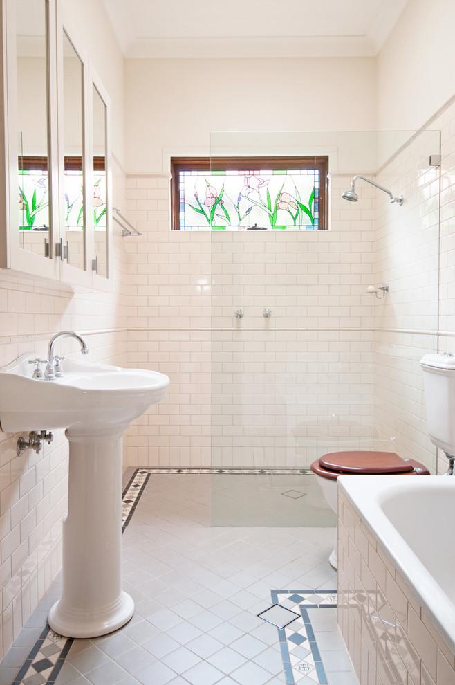 Bathroom , Wonderful  Traditional Kohler Pedestal Sinks Small Bathrooms Photos : Cool  Traditional Kohler Pedestal Sinks Small Bathrooms Inspiration