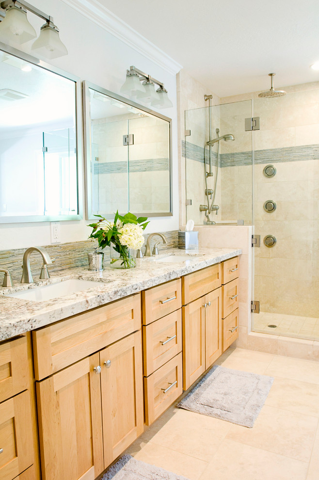 Bathroom , Awesome  Transitional Granite Countertop Overhang Support Image Ideas : Cool  Transitional Granite Countertop Overhang Support Picture