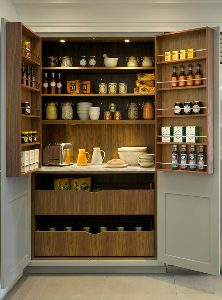 734x990px Gorgeous  Transitional Kitchen Pantry Armoire Photo Ideas Picture in Kitchen