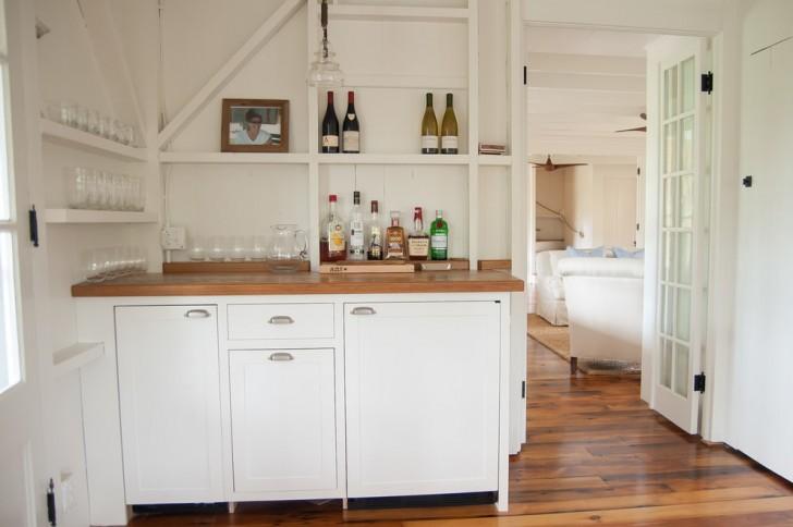 Home Bar , Stunning  Beach Style Bars For Dining Room Ideas : Fabulous  Beach Style Bars for Dining Room Photo Ideas
