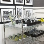 Fabulous  Eclectic Black Bar Cart Picture , Awesome  Traditional Black Bar Cart Photo Inspirations In Kitchen Category