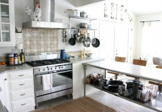990x660px Stunning  Eclectic Stainless Steel Kitchen Island Table Image Inspiration Picture in Kitchen