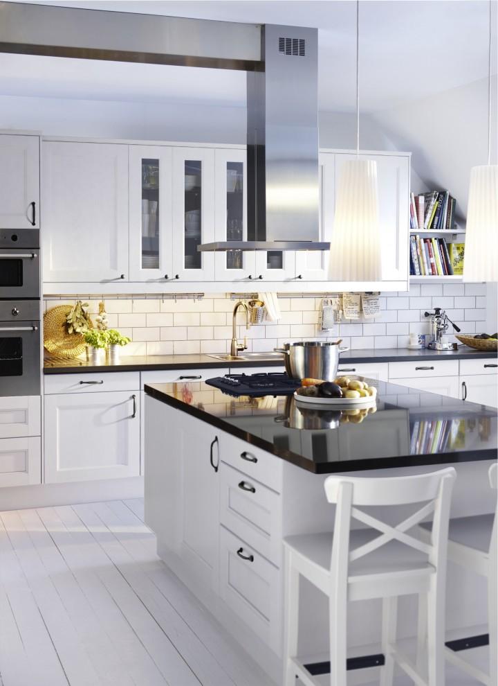 Kitchen , Lovely  Contemporary Ikea Kitchen White Inspiration : Fabulous  Modern Ikea Kitchen White Photo Inspirations