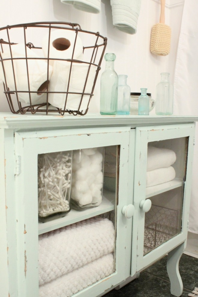 Bathroom , Beautiful  Shabby Chic Unfinished Bathroom Storage Cabinets Photo Inspirations : Fabulous  Shabby Chic Unfinished Bathroom Storage Cabinets Photos