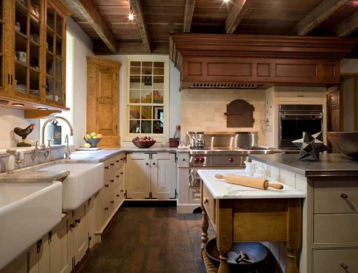 Kitchen , Lovely  Traditional Bakers Tables Inspiration : Fabulous  Traditional Bakers Tables Photos