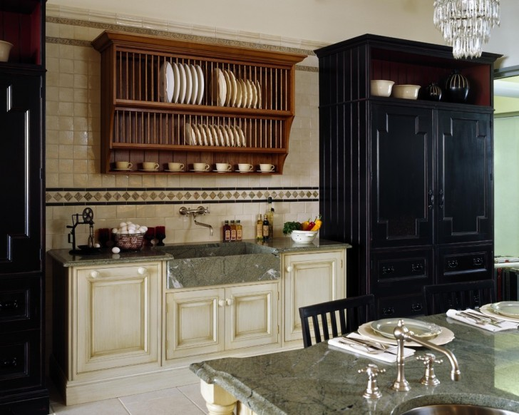 Kitchen , Charming  Traditional Cabinet Racks Kitchen Photos : Fabulous  Traditional Cabinet Racks Kitchen Image Ideas