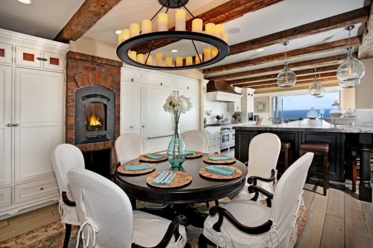 Dining Room , Charming  Beach Style Kitchen Table And Chair Set Photo Inspirations : Gorgeous  Beach Style Kitchen Table and Chair Set Inspiration