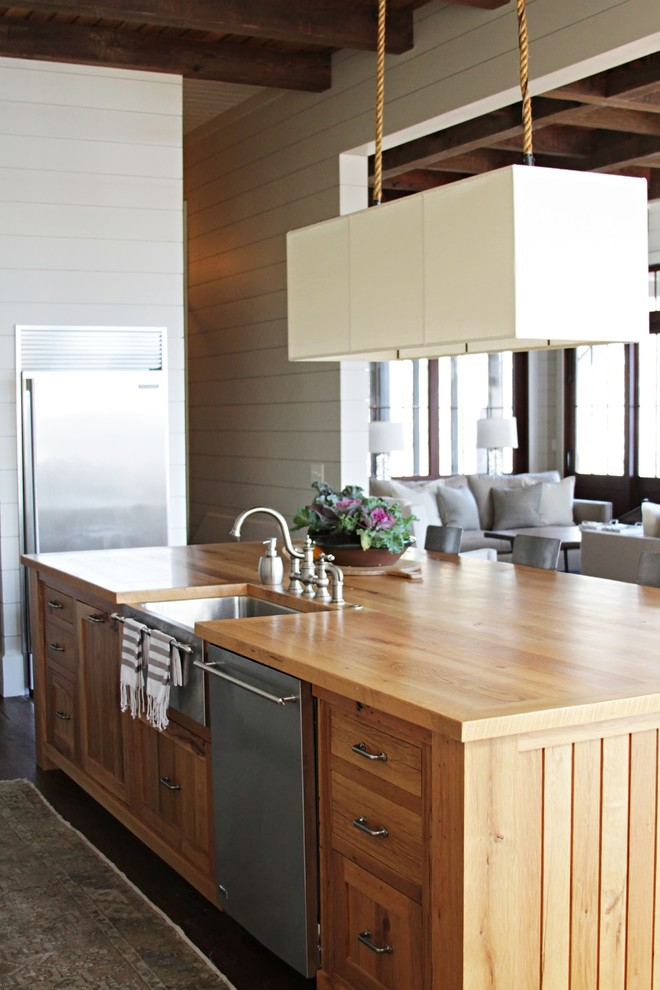 660x990px Lovely  Beach Style Solid Wood Kitchen Island Picture Picture in Kitchen